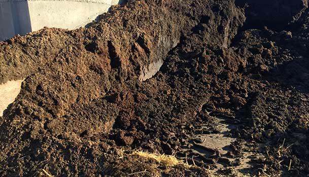 Drænet grisemøg fra biogasanlæg